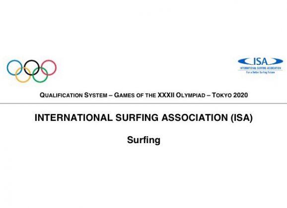 O Comité Olímpico Internacional (COI) comunicou a todos os Comités Olímpicos Nacionais (CON) o sistema de classificação aprovado para o Surfing Olímpico em Tokio 2020.